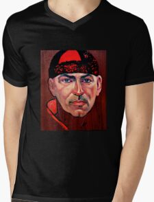 Tim McKew, Cabaret Artist - original oil painting on Jarrah Mens V-Neck T-Shirt