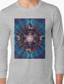 Metatron's Cube - Merkabah - Peace and Balance Long Sleeve T-Shirt