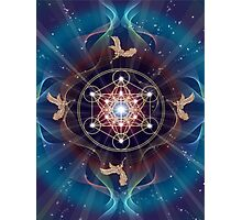 Metatron's Cube - Merkabah - Peace and Balance Photographic Print