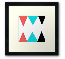 Colorful Arrows (Red, Blue and Black) Framed Print
