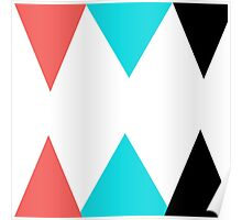 Colorful Arrows (Red, Blue and Black) Poster