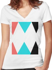 Colorful Arrows (Red, Blue and Black) Women's Fitted V-Neck T-Shirt