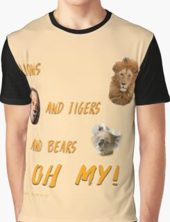 Lions, and Tigers, and Bears, Oh My (Dorothy, lion, scarecrow, tinman, wizard of Oz) Graphic T-Shirt