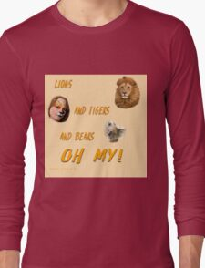 Lions, and Tigers, and Bears, Oh My (Dorothy, lion, scarecrow, tinman, wizard of Oz) Long Sleeve T-Shirt