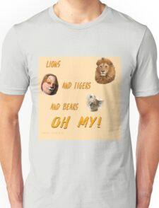 Lions, and Tigers, and Bears, Oh My (Dorothy, lion, scarecrow, tinman, wizard of Oz) Unisex T-Shirt
