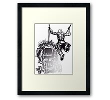 Jump - Sketch Framed Print