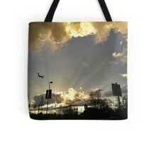 Sunset At Cascade Station Tote Bag