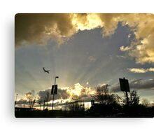 Sunset At Cascade Station Canvas Print