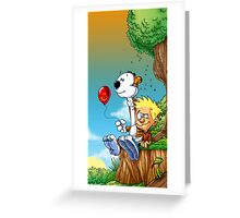 calvin ball hobbes Greeting Card