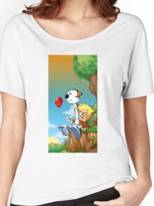 calvin ball hobbes Women's Relaxed Fit T-Shirt