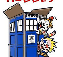 Calvin And Hobbes police box by kabeljack