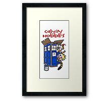 Calvin And Hobbes police box Framed Print
