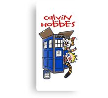 Calvin And Hobbes police box Canvas Print