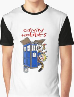 Calvin And Hobbes police box Graphic T-Shirt