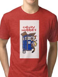 Calvin And Hobbes police box Tri-blend T-Shirt