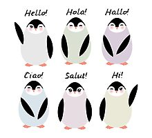 Happy pinguins  Photographic Print