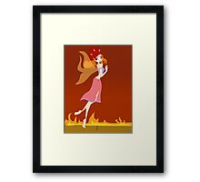 Fire Fairy Drawing - (Designs4You)  Framed Print