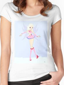 Ice Fairy Drawing - (Designs4You) Women's Fitted Scoop T-Shirt