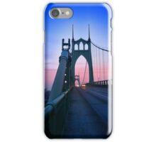 St Johns Bridge South iPhone Case/Skin