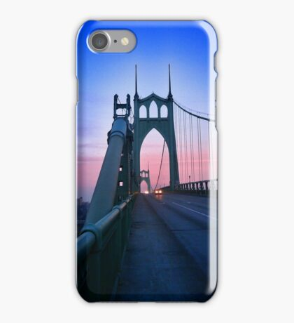 St Johns Bridge South iPhone Case/Skin