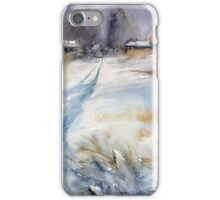 Before the Snowstorm in the Country. Russia iPhone Case/Skin