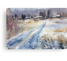 Before the Snowstorm in the Country. Russia Canvas Print