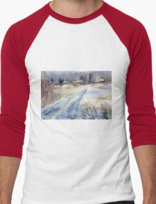 Before the Snowstorm in the Country. Russia Men's Baseball ¾ T-Shirt
