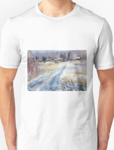 Before the Snowstorm in the Country. Russia Unisex T-Shirt