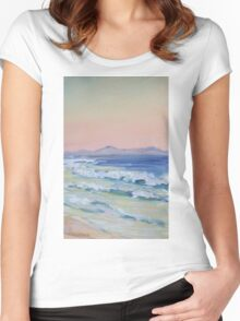 Rainbow Beach looking north at dusk Women's Fitted Scoop T-Shirt
