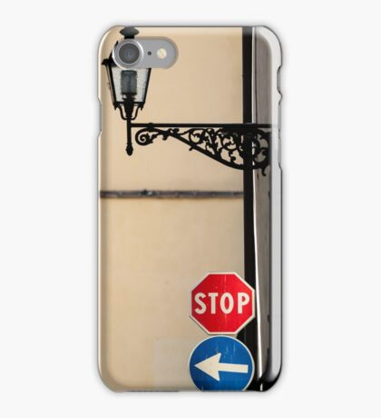 Stop Left iPhone Case/Skin