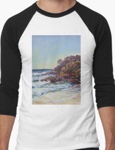 Southern end of Rainbow beach at dusk Men's Baseball ¾ T-Shirt