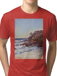 Southern end of Rainbow beach at dusk Tri-blend T-Shirt