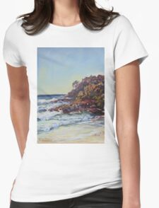 Southern end of Rainbow beach at dusk Womens Fitted T-Shirt