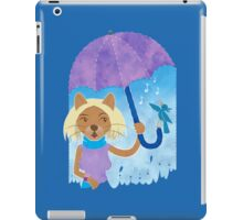 Cool cats and noisy neighbours on a rainy day iPad Case/Skin