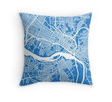 Richmond Map - Light Blue Throw Pillow