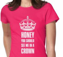 Sherlock Moriarty See me in a crown Womens Fitted T-Shirt