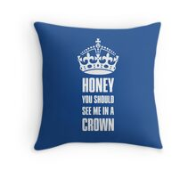 Sherlock Moriarty See me in a crown Throw Pillow