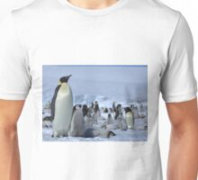Emperor Penguin and Chicks - Snow Hill Island  Unisex T-Shirt