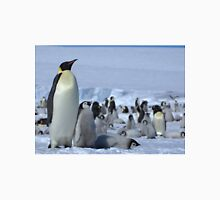 Emperor Penguin and Chicks - Snow Hill Island  T-Shirt