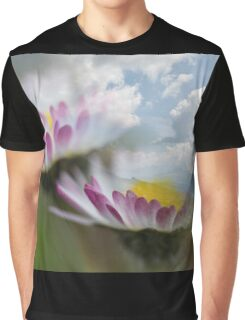 landscape rocky mountain and daisy Graphic T-Shirt