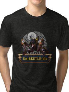 The Un-BEETLE-ble Khepri (Glasses Alt.) Tri-blend T-Shirt