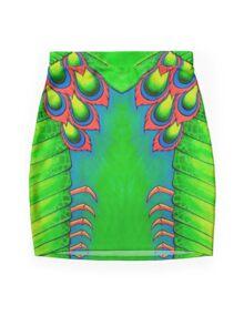 Neon Mantis Shrimp Mini Skirt