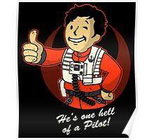 Fighter Pilot Boy Poster