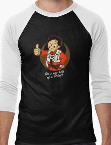 Fighter Pilot Boy Men's Baseball ¾ T-Shirt