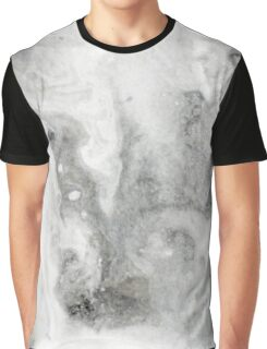 Black Ink Marble Graphic T-Shirt
