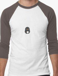Penguin's First Snow Men's Baseball ¾ T-Shirt