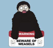 Beware of weasels, Samwell Kids Tee