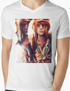 Draven version female genderbend Lol Mens V-Neck T-Shirt