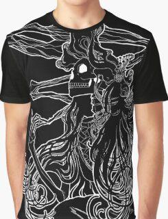 Mucha Nouveau Lines White Graphic T-Shirt
