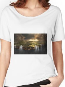 The Edge of Earth - Fantasy Flat Earth Women's Relaxed Fit T-Shirt